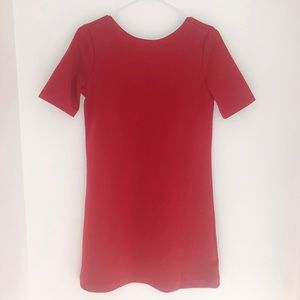 Ruby Red T-shirt Dress • Gap • XS